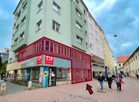 Pronájem obchodních prostor v pěší zóně (cca 135 m²)