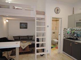 Pronájem krásného bytu po rekonstrukci 1+kk/B, 22 m2, zařízené, Praha 3 Žižkov
