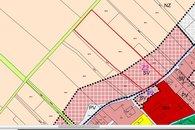 Uzemní plán - vyznačení pozemku