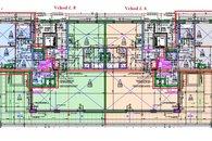 Vchod 6 a 8 - 4kk byt 2kk 51m2 + terasa 11,7m