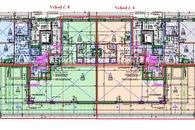 Vchod 6 a 8 - 4kk byt 2kk 89 m2 + terasa 54 m2
