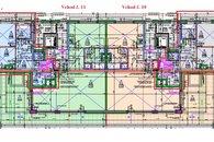 Vchod 10 a 11 - 4kk byt 2kk 51m2 + terasa 11,7m