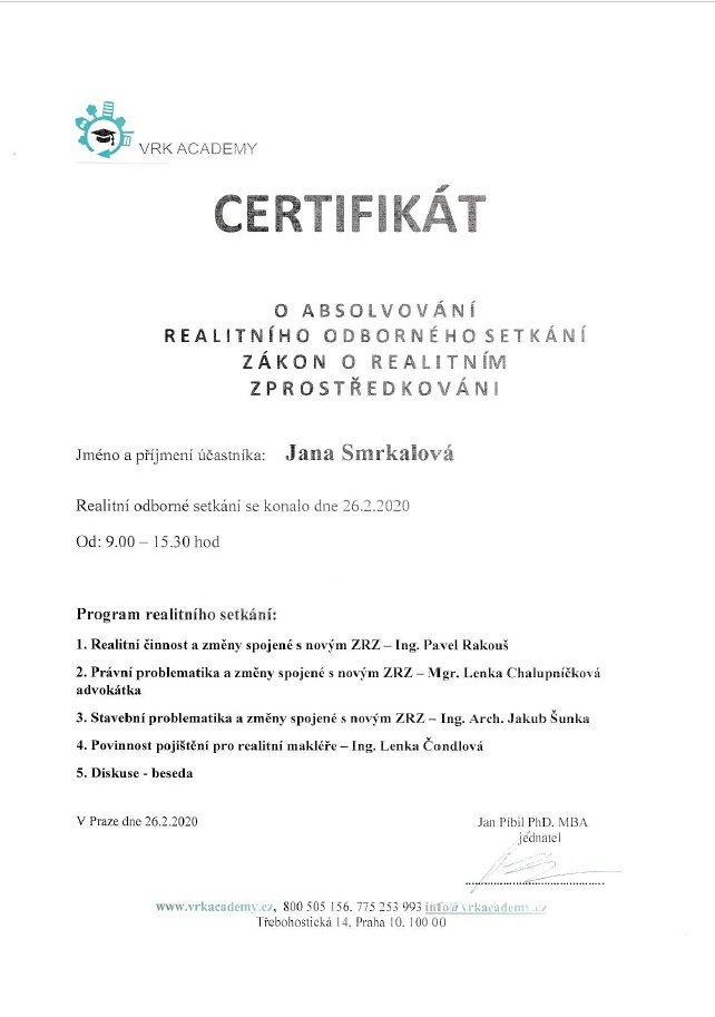 certifikat VRK