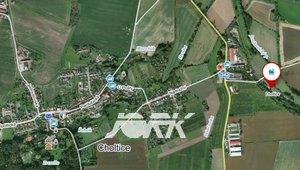 Prodej pozemku v Cholticích pro komerční využití, 1070m² - u nádraží