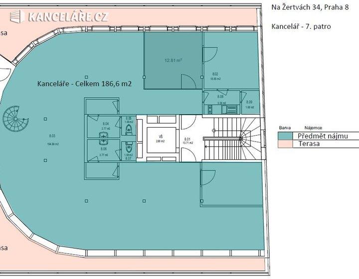 Kancelář k pronájmu - Na žertvách 2196/34, Praha - Libeň, 314 m² - foto 11