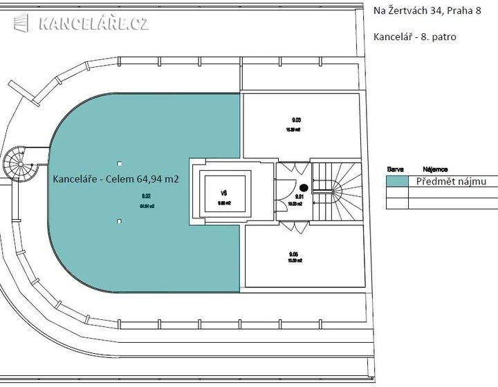 Kancelář k pronájmu - Na žertvách 2196/34, Praha - Libeň, 314 m² - foto 12