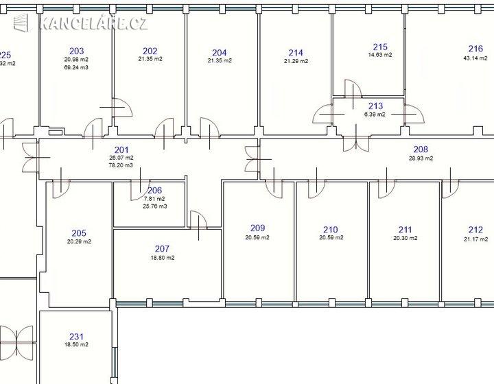 Kancelář k pronájmu - Berní 2261/1, Ústí nad Labem - Ústí nad Labem-centrum, 20 m² - foto 4