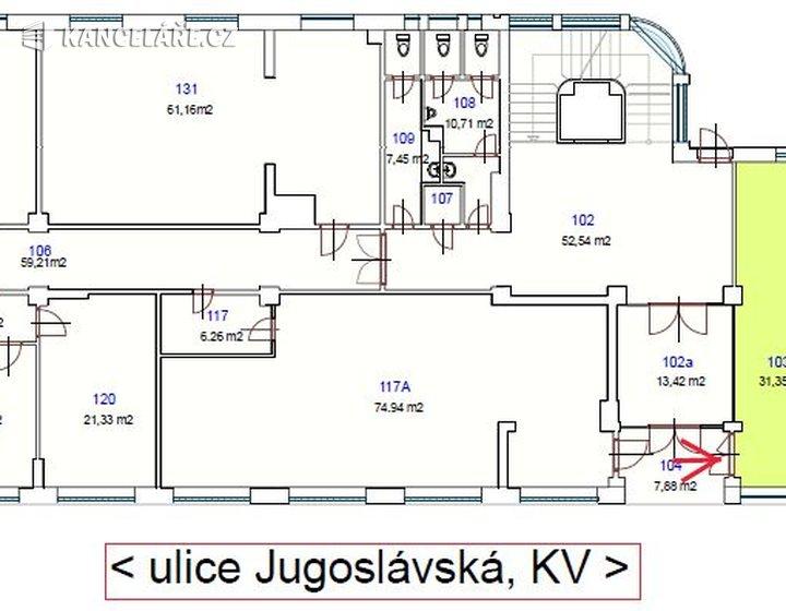 Obchodní prostory k pronájmu - Jugoslávská 1706/3, Karlovy Vary, 31 m² - foto 2