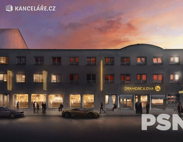 Kancelář k pronájmu - Drahobejlova 1073/38, Praha, 500 m² - foto 1