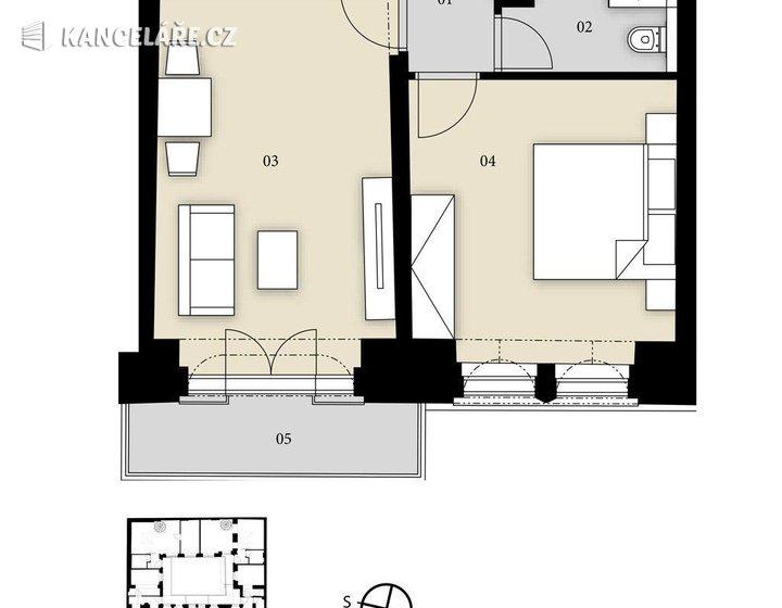 Byt na prodej - 2+kk, Prvního pluku 144/14, Praha, 46 m² - foto 3