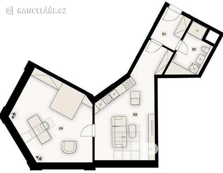 Byt na prodej - 1+kk, Bořivojova 1049/57, Praha, 73 m² - foto 6