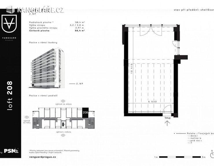 Kancelář na prodej - Československého exilu 3068/20, Praha, 58 m²