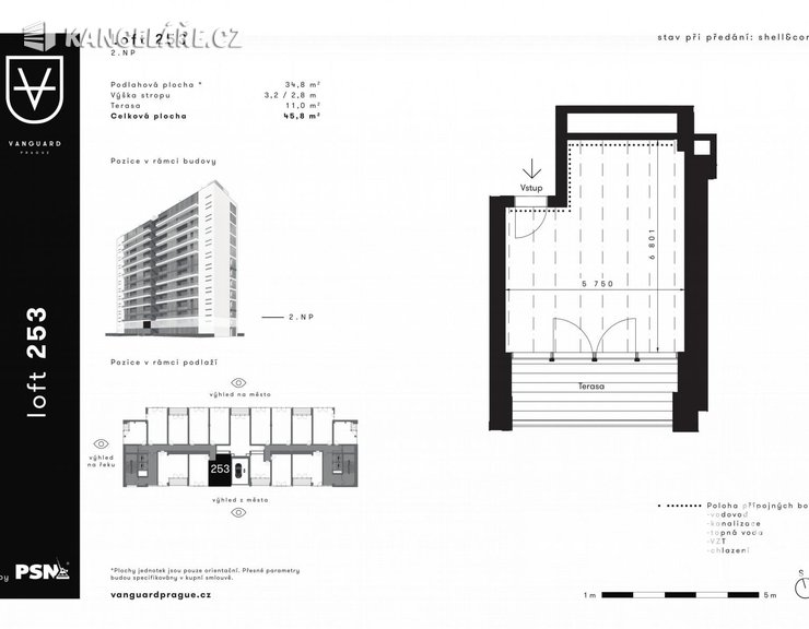 Kancelář na prodej - Československého exilu 3068/20, Praha, 46 m²