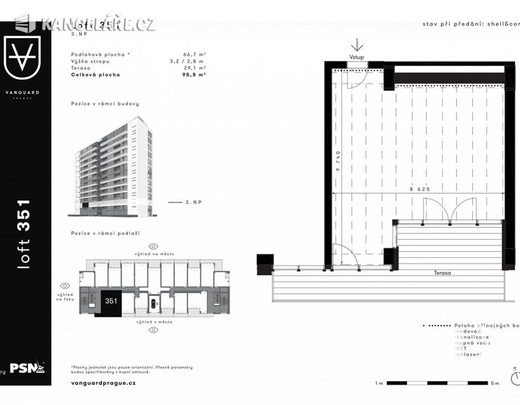 Kancelář na prodej - Československého exilu 3068/20, Praha, 96 m²