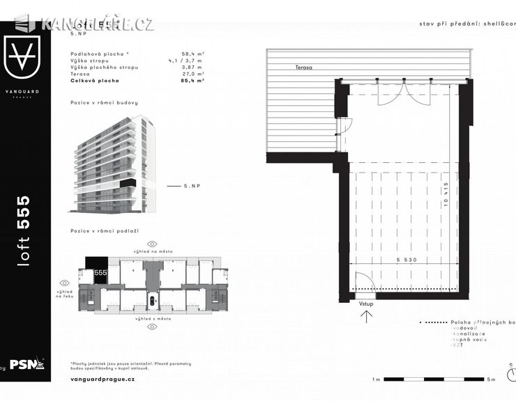 Byt na prodej - Atypický, Československého exilu 3068/20, Praha, 68 m²