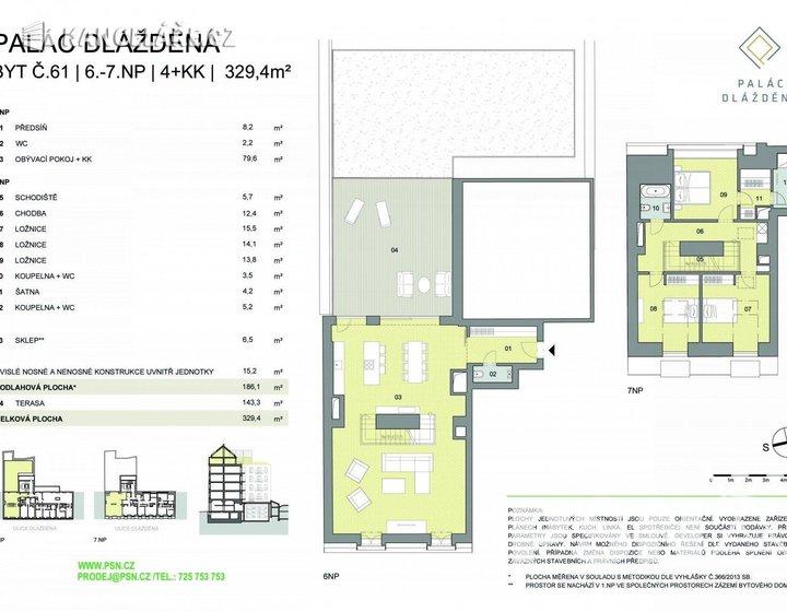 Byt na prodej - 4+kk, Dlážděná 1586/4, Praha, 329 m² - foto 15