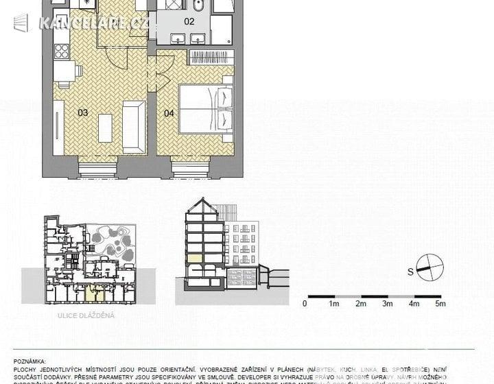 Byt na prodej - 2+kk, Dlážděná 1586/4, Praha, 44 m² - foto 14