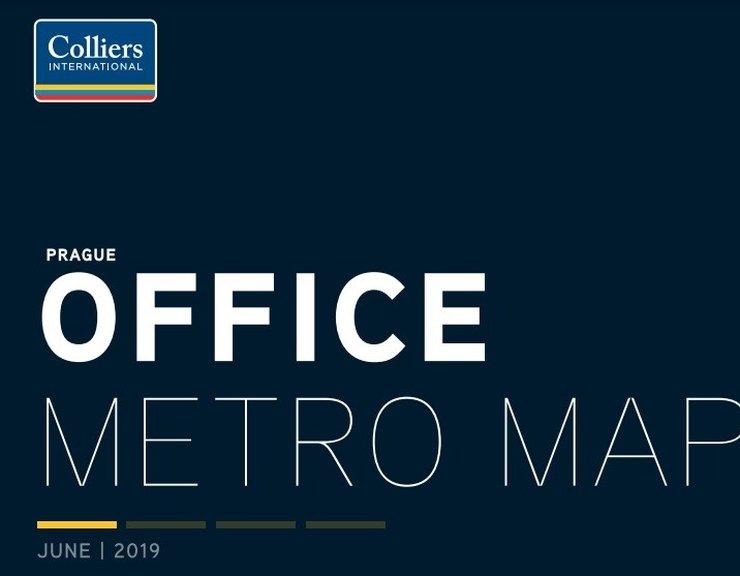 Colliers International představuje třetí vydání Mapy kancelářských prostor u stanic metra
