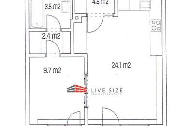 Prodej budované novostavby bytu 2+kk o CP 51,5 m2 v blízkosti NC Královo Pole, Ev.č.: 0420191