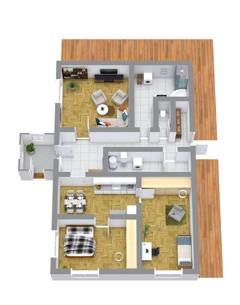 3D chata Jeseník