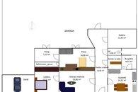 Pudorys s nábytkem