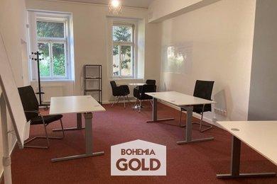 PRONÁJEM. Prostorná kancelář 42m². Recepce, služby. Praha - Karlín, Ev.č.: BGO2115