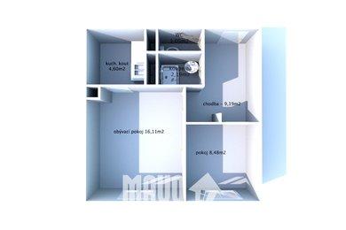 Prodej, Byty 2+kk, 42m² - Praha - Stodůlky, Ev.č.: 00332