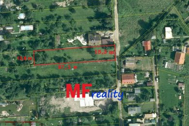 Prodej pozemku 1256m2, Nový Hradec Králové