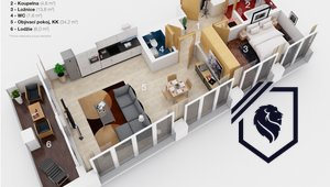 Prodej bytu 2+kk, 62 m2/ L, Praha 8, Karlín