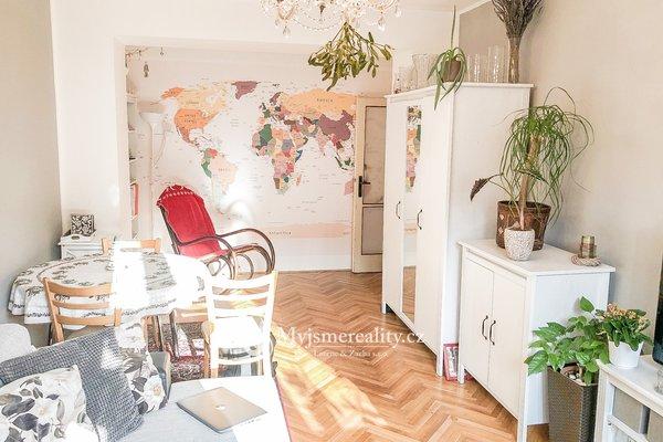 Pronájem, zcela zařízeného bytu 2+1, 55 m² - Znojmo ul. Smetanova