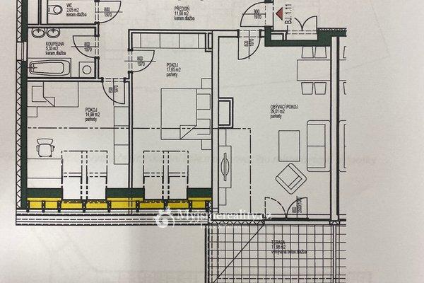 Pronájem, Byty 4+1, 104m² + terasa 12 m2 - Znojmo