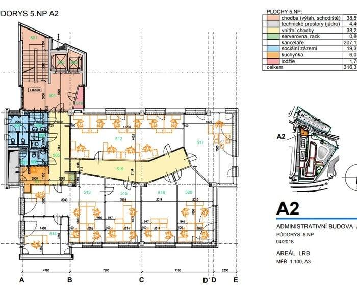 Půdorys 5.NP 271 m2