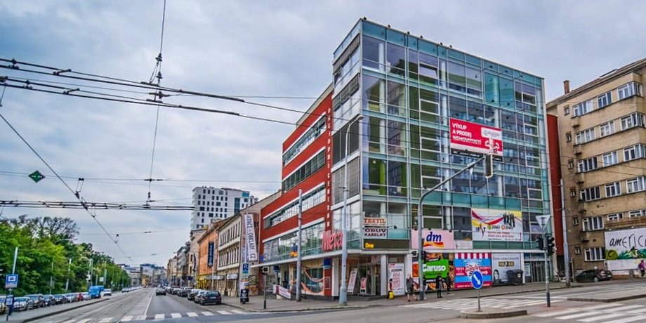 Leased office space with an area of 225 m2 on Lidická Street