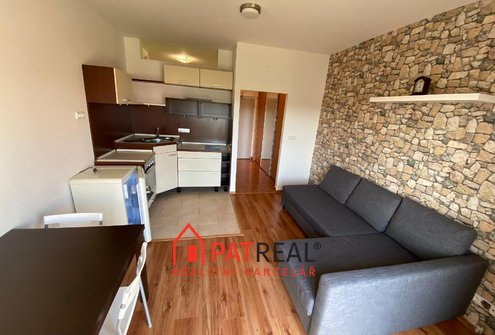 Pronájem zařízeného bytu 1+kk, 26m2, sklep 3m2, Brno - Slatina
