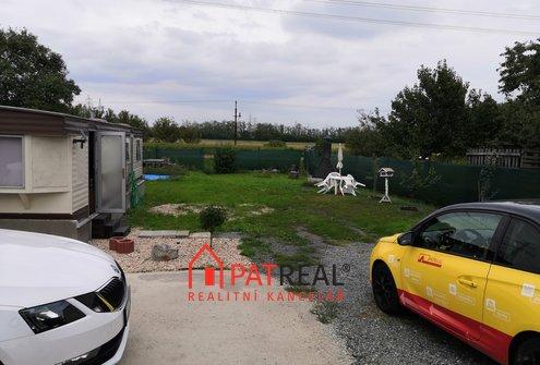Prodej zahrady s mobilheimem 29m², 438m² - Měnín