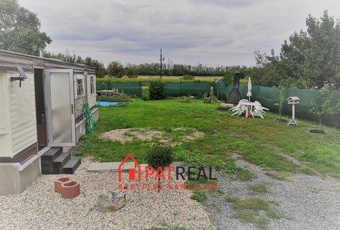 Prodej zahrady s mobilheimem 29m², 438m² - Měnín, pozemek 438 m²