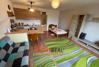 Pronájem zařízeného bytu 1+kk, 40m2, šatna, terasa, vlastní topení