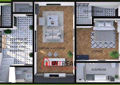 půdorys dům 3D