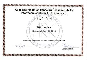 certifikát Jirka GDPR