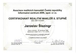 certifikát Jara