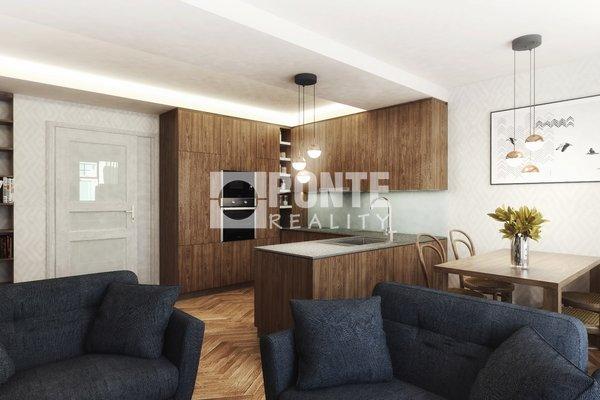 Prodej  bytu 2+kk, 61,1 m2, Na výšinách, Praha 7 - Bubeneč, OV, 5.NP, cihla
