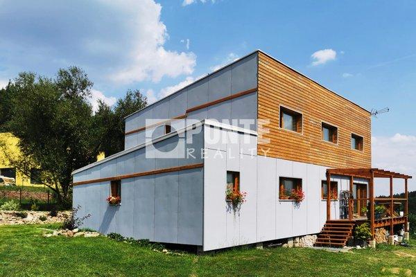 Nabídka pasivního rodinného domu 6+kk, pozemek 1376 m2, Ondřejov, okres Praha - východ
