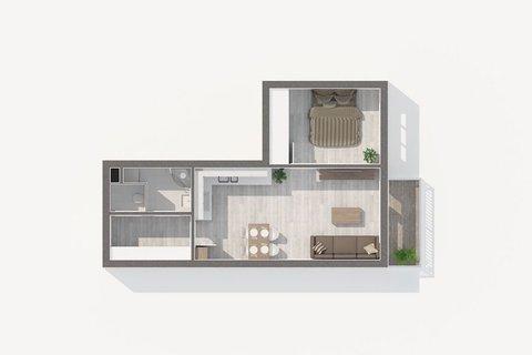 plánek bytu Freyova