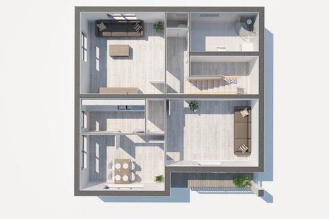 Prodej rodinného domu Sadská - 3D půdorys, Praha realitní makléř v Praze, realitní kancelář9