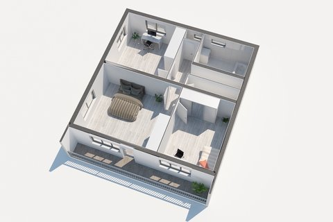Prodej rodinného domu Sadská - 3D půdorys, Praha realitní makléř v Praze, realitní kancelář18