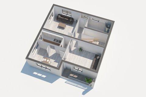 Prodej rodinného domu Sadská - 3D půdorys, Praha realitní makléř v Praze, realitní kancelář11