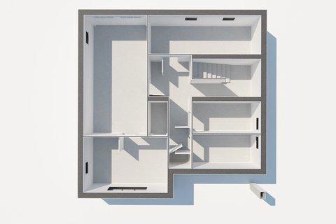 Prodej rodinného domu Sadská - 3D půdorys, Praha realitní makléř v Praze, realitní kancelář1