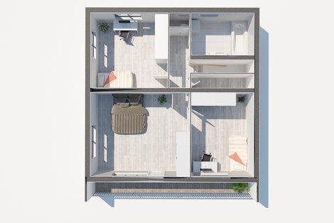 Prodej rodinného domu Sadská - 3D půdorys, Praha realitní makléř v Praze, realitní kancelář16