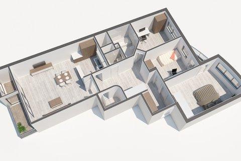 Prodej bytu Baarova půdorys , realitní makléř • realitní kancelář • realitní služby nejen v
