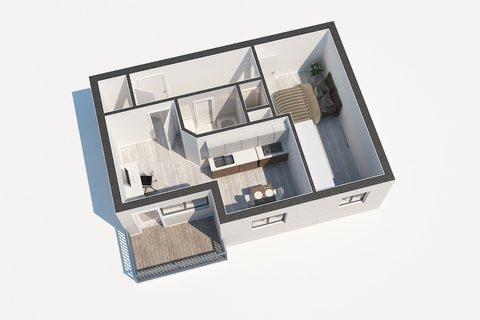 Prodej bytu Klecany Půdorys realitní makléř • realitní kancelář • realitní služby nejen v P